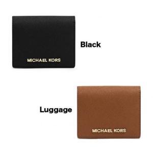 Michael Kors マイケルコース 二つ折り財布 パスケース カードケース 黒 茶 black luggage ブラック ラゲッジ JET SE stylecompany