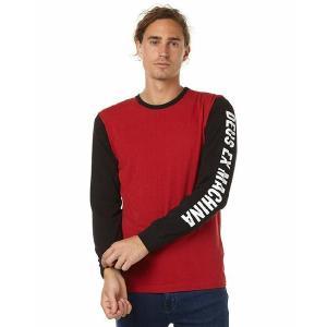 DeusExMachina デウス エクス マキナ 長袖 ロンT 黒 赤 メンズ ロゴTシャツ Tee メンズファッション アメカジ サーフ surf|stylecompany