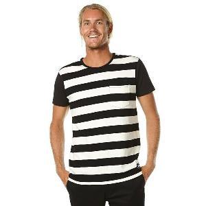 DeusExMachina デウス エクス マキナ Tシャツ 半袖 ブラック メンズストライプ Tee メンズファッション 胸ポケット アメカジ サー|stylecompany
