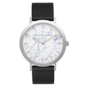 Christian Paul クリスチャン ポール 43mm Marble マーブル 大理石調 レディース メンズ ユニセックス 腕時計 レザーベルト|stylecompany