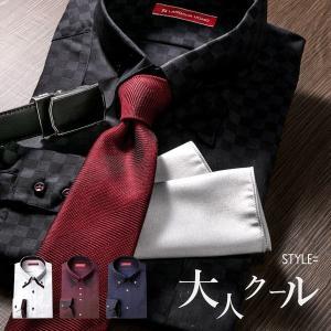 ドレスシャツ 長袖 メンズ 黒 ボタンダウン ストライプ ドゥエボットーニ おしゃれ ワイシャツ モノトーン 白 ワイン ネイビー|styleequal