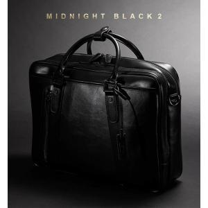 徹底的に黒にこだわった ビジネスバッグ 2層式 メンズ ブランド a4 当店オリジナルカラー オール ブラック ネット限定販売 通勤 出張 PC A4 2way|styleequal