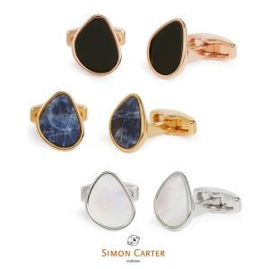 カフス ブランド サイモンカーター Simon Carter organic pebble 天然石 ギフト プレゼント 送料無料|styleequal