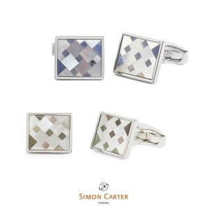 カフス ブランド サイモンカーター Simon Carter cubist mosaicギフト プレゼント 送料無料|styleequal
