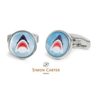 カフス ブランド サイモンカーター Simon Carter shark シャーク サメ ギフト プレゼント 送料無料|styleequal