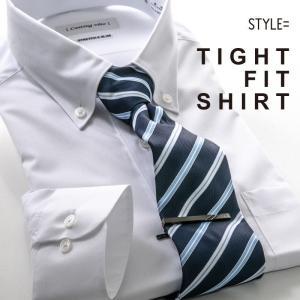 ワイシャツ 長袖 形態安定 メンズ スリムフィット ストレッチ 制菌 抗菌 防臭 ビジネス カッターシャツ 白 リクルート 就活 冠婚葬祭|styleequal