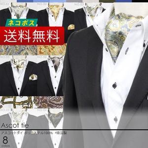 柄物 アスコットタイ (アスコットスカーフ) 全8種類  ネコポス 送料無料 メンズ フォーマル パーティ styleequal