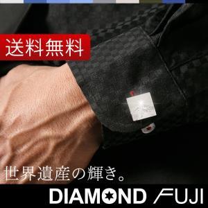 「ダイヤモンド富士」 カフスボタン 単品 (カフリンクス) 結婚式 メンズ ノーブランド ダイヤモンド シルバー X'mas クリスマス 父の日 プレゼント 富士山|styleequal