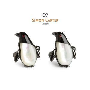 カフス ブランド サイモンカーター Simon Carter / オニキス ペンギン ギフト プレゼント 送料無料|styleequal