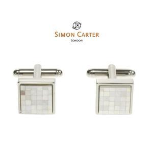 サイモンカーター カフス / カフスボタン Chequer / Mother of Pearl / SIMON CARTER ( サイモン・カーター|styleequal