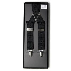 サスペンダー メンズ X型 25mm幅  ブラック(黒)ダイヤ柄 フォーマル ビジネス カジュアルに ( 送料無料 )|styleequal