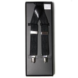 サスペンダー メンズ Y型 25mm幅  ブラック(黒)ダイヤ柄 フォーマル ビジネス カジュアルに (  ) styleequal
