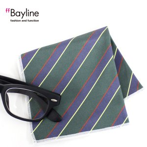 眼鏡拭き ストライプ斜め グリーン  おしゃれ メガネ クロス かわいい ストライプ グリーン プレゼント に最適 メガネ拭き styleism