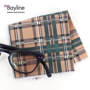 眼鏡拭き チェック柄 ベージュ×グリーン  おしゃれ メガネ クロス かわいい ベージュ グリーン プレゼント に最適 メガネ拭き styleism