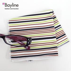 眼鏡拭き マルチストライプ柄 ライトグリーン  おしゃれ メガネ クロス かわいい ストライプ ライトグリーン プレゼント に最適 styleism