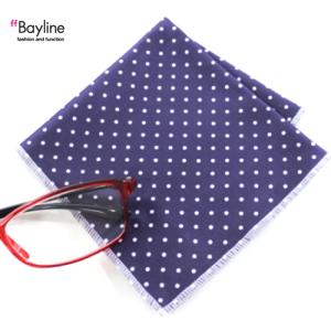 メガネ拭き クロス 眼鏡拭き スマホ拭き ドット ネイビー スタイルイズム Bayline ベイライン|styleism
