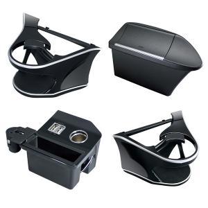 YAC(ヤック) 60系 ハリアー専用【ドリンクホルダー+電源BOX+ゴミ箱+ドリンクホルダー助手席】エアコン 吹き出し口 USB スマホ 充電 ダストボックス フタ|stylemarket