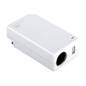 大橋産業 BAL AC/DCアダプターNo.1762 コンセント電源(AC100V)をシガーソケット(12V)とUSBに変換 カー用品を家庭で使用可能|stylemarket
