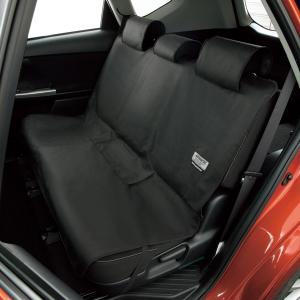 ファインテックス 後席用(シートベルト対応)ブラック 防水素材だからお手入れ簡単 汚れ防止/ペットや...