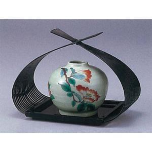 九谷焼 (花篭付き) 4号花瓶 山茶花|stylence