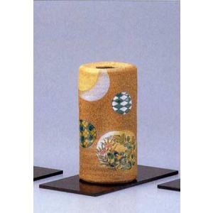 九谷焼 6.5号寸胴花瓶 丸紋秋草 (花台付)|stylence