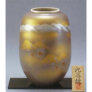 九谷焼 8号ナツメ花瓶 四季の山|stylence