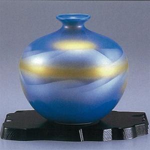 九谷焼 5号花瓶 ブルー連山|stylence