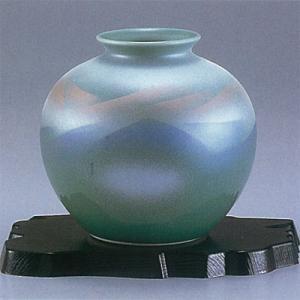 九谷焼 5号花瓶 青磁色連山|stylence