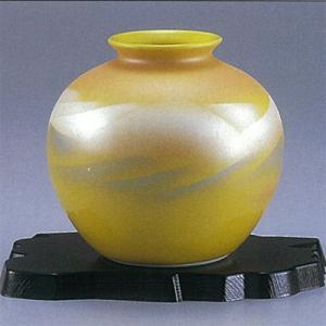 九谷焼 5号花瓶 黄釉色連山|stylence