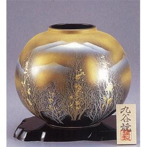 九谷焼 【送料無料】  8号花瓶 金箔木立連山|stylence
