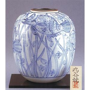 九谷焼 【送料無料】  8号花瓶 染付魚紋|stylence