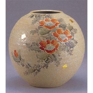 九谷焼 【送料無料】  8号花瓶 赤山茶花|stylence