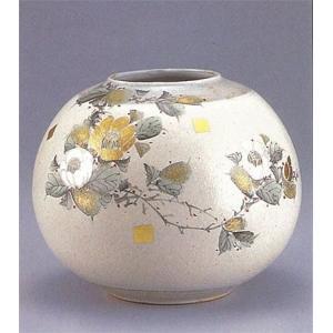 九谷焼 【送料無料】  8号花瓶 童仙傍金山茶花|stylence
