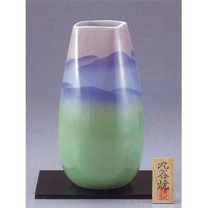 九谷焼 10号花瓶 色釉連山|stylence
