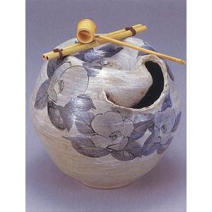 九谷焼 【送料無料】  10号湧き水つくばい 水の舞 染付山茶花|stylence