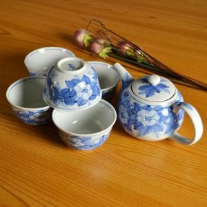 九谷焼 茶器 染付山茶花|stylence