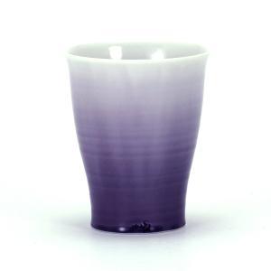 九谷焼 徳田八十吉 フリーカップ 彩釉紫|stylence