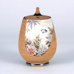 九谷焼 中村陶志人作 4.5号香炉 淡彩花鳥図|stylence