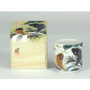 九谷焼 色いろかっぷ・鯉の滝上り 伝統工芸士 福田良則 作|stylence