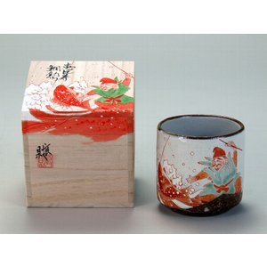 九谷焼 色いろかっぷ・恵比寿鯛釣り 伝統工芸士 福田良則 作|stylence
