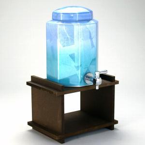 八角焼酎サーバー 銀彩 (木製専用置き台付き)|stylence