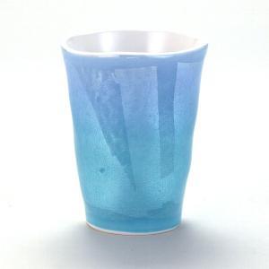 九谷焼 焼酎タンブラー 銀彩青色|stylence