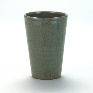 九谷焼 焼酎タンブラ− 青磁トビカンナ|stylence
