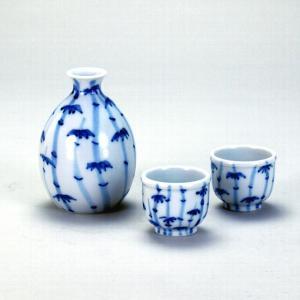 九谷焼 【送料無料】 晩酌揃 染付竹林文|stylence