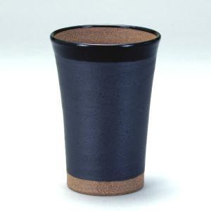九谷和窯 泡がおいしい泡多長ビアカップ 黒釉焼〆 350cc|stylence
