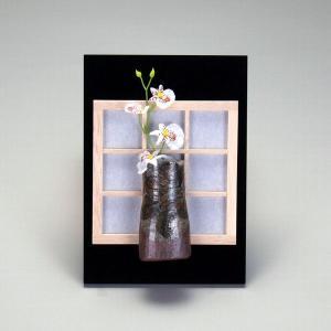 九谷焼 障子掛立 焼〆山茶花|stylence