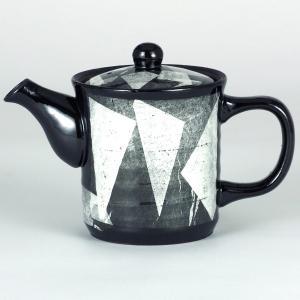 イツミ陶器 うまちゃポット(アミ付)シリーズ 大 銀彩 白|stylence