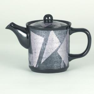 イツミ陶器 うまちゃポット(アミ付)シリーズ 小 銀彩 紫|stylence