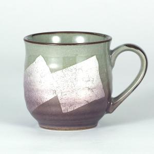 九谷焼 マグカップ 銀彩 京紫色|stylence