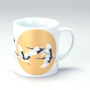 九谷焼 マグカップ 満月鶴|stylence